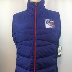 NWT New York Rangers Women's Full-Zip Vest